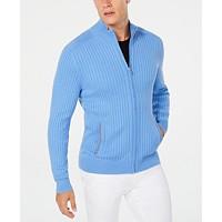 Alfani Mens Ribbed Full-Zip Sweater Deals
