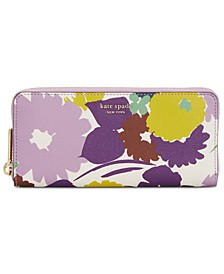 Sylvia Swing Flora Slim Continental Wallet
