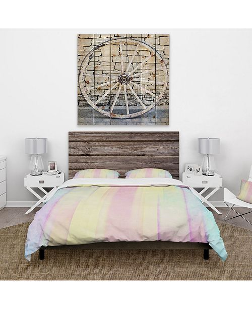 Design Art Designart 'Textured Abstract Grunge Background' Country Duvet Cover Set - Queen