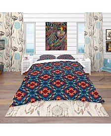 Designart 'Tribal Abstract Pattern' Bohemian and Eclectic Duvet Cover Set - Twin