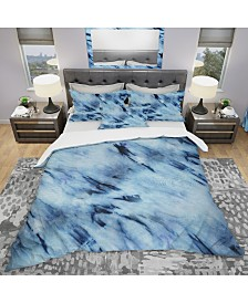 Designart 'Tie Dye' Modern and Contemporary Duvet Cover Set - King