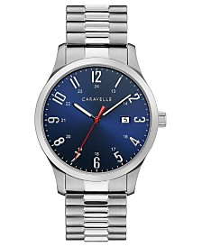 Caravelle Designed by Bulova Men's Stainless Steel Bracelet Watch 40mm