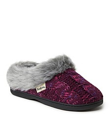 Dearfoams Women's Cable Knit Clog Slipper, Online Only