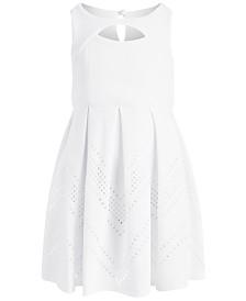 Bonnie Jean Little Girls Textured Box-Pleat Dress