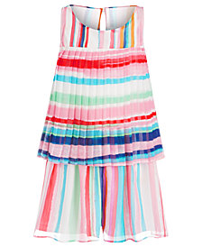 Bonnie Jean Little Girls Striped Pleated Romper