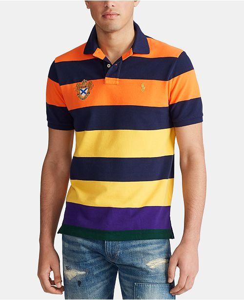 Polo Ralph Lauren Men's Tri-Tonal Mesh Polo Shirt