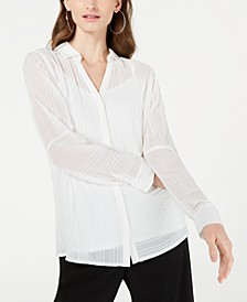 Pintucked Button-Down Top, Created for Macy's
