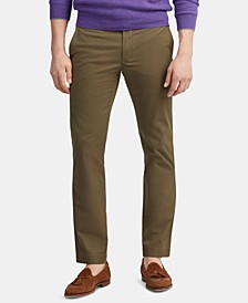 Men's Stretch Straight Fit Twill Flat Pants