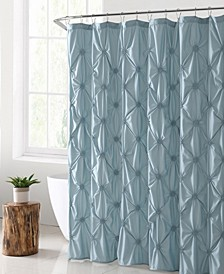 "Floral Burst Solid Technique 72"" x 72"" Shower Curtain"