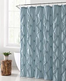 """Floral Burst Solid Technique 72"""" x 72"""" Shower Curtain"""