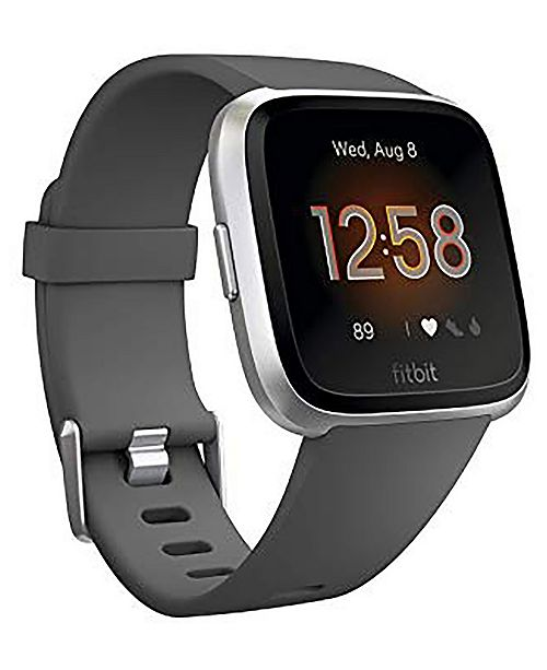 Fitbit Versa Lite Charcoal Silicone Strap Smart Watch 39mm