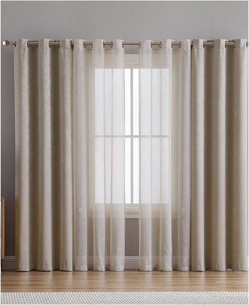 VCNY Home Hudson Textured Print 38x84 Blackout Window Panel 4 Pack