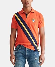 Polo Ralph Lauren Men's Custom Slim Fit Diagonal Stripe Mesh Polo Shirt