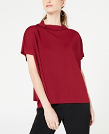 Alfani Petite Cowl Mock-Neck Top, Created for Macy's