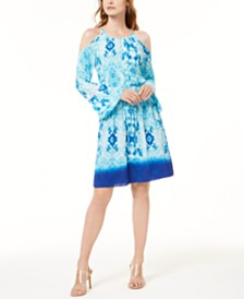 I.N.C. Tie-Dye Gauze Dress, Created for Macy's