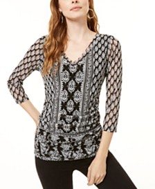I.N.C. Double-Layer Top, Created for Macy's