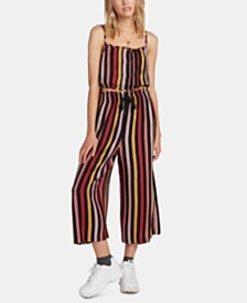 Volcom Juniors' Striped Wide-Leg Pants