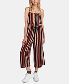 Volcom Juniors' Striped Wide-Leg Pants