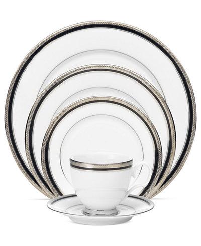Noritake Dinnerware, Austin Platinum 5 Piece Place Setting - Fine ...