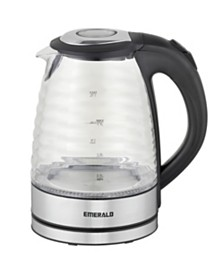 Emerald 1.7L Electric Glass Kettle with Ridge Design