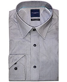 Men's Modern-Fit Stretch Geo-Print Dress Shirt