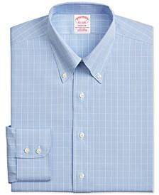 Men's Classic/Regular-Fit Non-Iron Check Supima Cotton Dress Shirt
