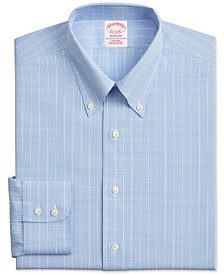 Brooks Brothers Men's Classic/Regular-Fit Non-Iron Check Supima Cotton Dress Shirt