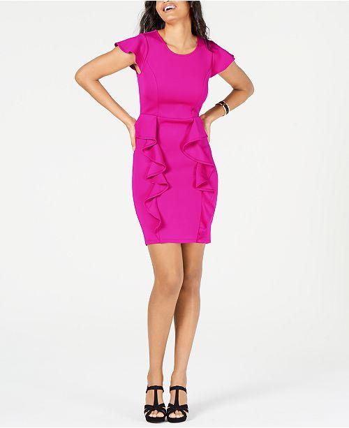 Thalia Sodi Ruffled Scuba Dress, Created for Macy's