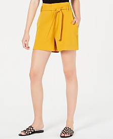 Bar III Paperbag-Waist Shorts, Created for Macy's