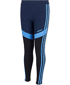 adidas Big Girls Colorblocked Melange Leggings