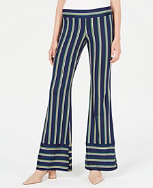 Juniors' Striped Pants with Border