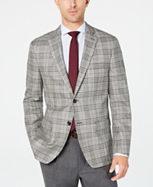 Lauren Ralph Lauren Men's Classic-Fit UltraFlex Stretch Black/White Plaid Sport Coat