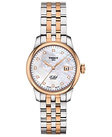 Women's Swiss Automatic Le Locle Diamond-Accent Two-Tone Stainless Steel Bracelet Watch 29mm