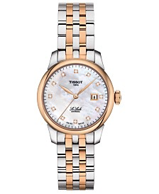 Tissot Women's Swiss Automatic Le Locle Diamond-Accent Two-Tone Stainless Steel Bracelet Watch 29mm