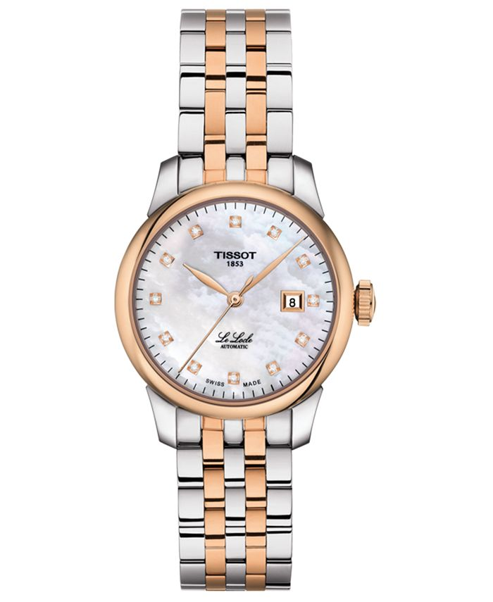 Tissot - Women's Swiss Automatic Le Locle Diamond-Accent Two-Tone Stainless Steel Bracelet Watch 29mm