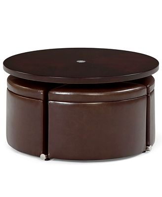 neptune coffee table with storage ottomans - furniture - macy's