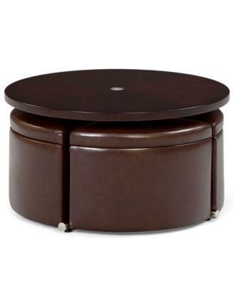 Attractive Neptune Coffee Table With Storage Ottomans
