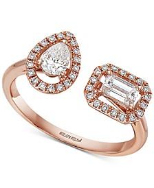 EFFY® Diamond Bypass Ring (5/8 ct. t.w.) in 14k Rose Gold