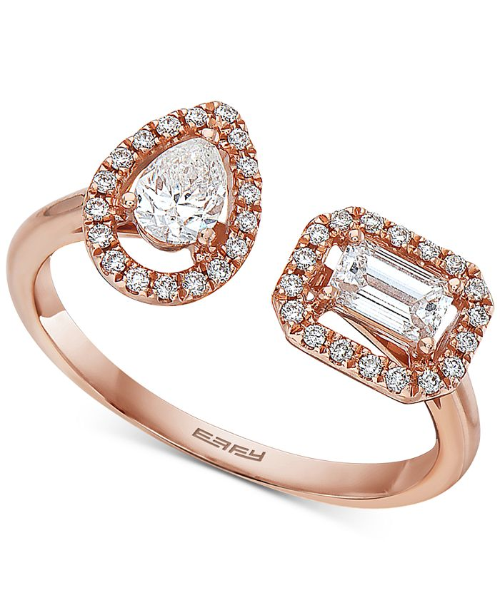EFFY Collection - Diamond Bypass Ring (5/8 ct. t.w.) in 14k Rose Gold