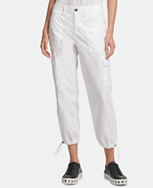 DKNY Cotton Cargo Jogger Pants