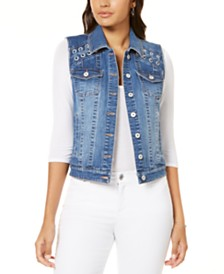 I.N.C. Lace-Up Denim Vest, Created for Macy's