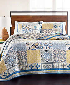 Martha Stewart Collection La Dolce Vita Patchwork Quilt and Sham Collection, Created for Macy's
