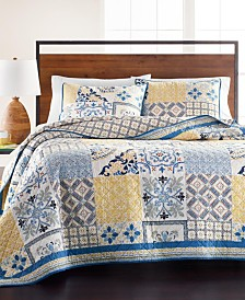 Martha Stewart Collection La Dolce Vita Patchwork Twin Quilt, Created for Macy's
