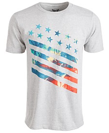 Univibe Men's Palm Stars And Stripes Graphic T-Shirt