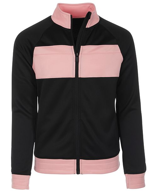 Ideology Big Girls Colorblocked Track Jacket, Created for Macy's
