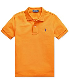 Toddler Boys Basic Mesh Knit Polo Shirt
