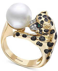 EFFY® Multi-Gemstone Panther Ring in 14k Gold