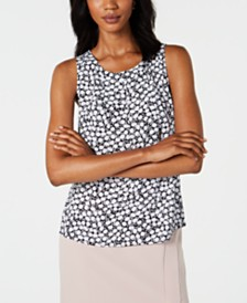 Nine West Floral-Print Sleeveless Top, Created for Macy's