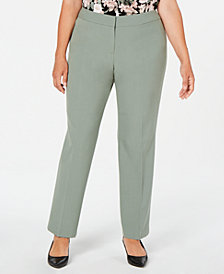 Nine West Plus Size Straight-Leg Pants