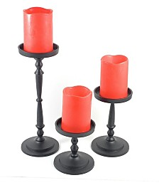 Vibhsa Pillar Candle Holders Set of 3